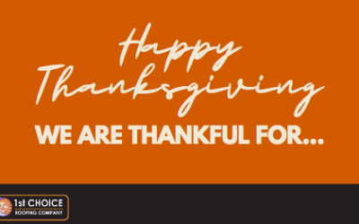 Ohio Commercial Roofing Company – Thankful for our 1st Choice Roofing Family on Thanksgiving