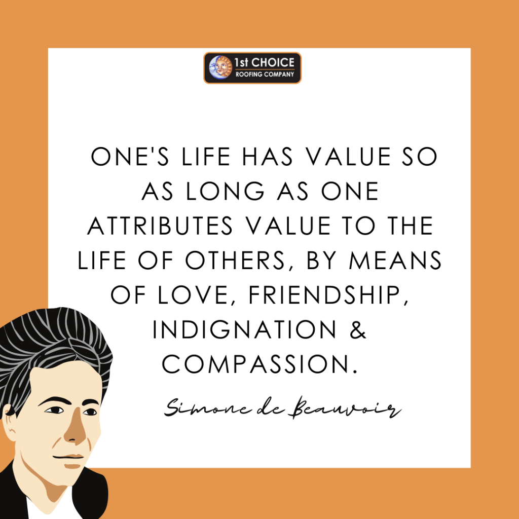 Women of History Series simone de beauvoir | Cleveland Ohio | Commercial Roofing, Residential Roofing, and Historical/Specialty Roofing